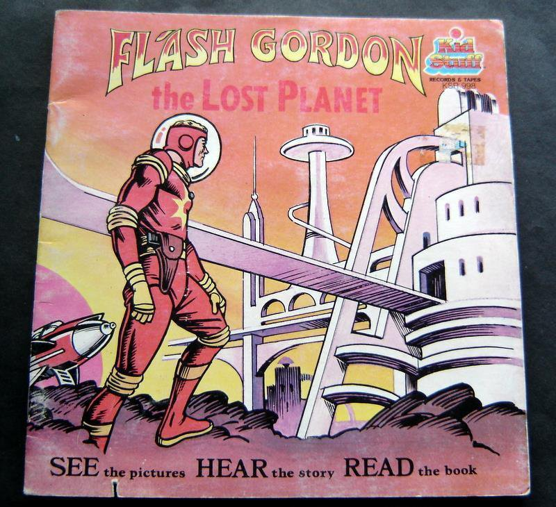 Flash Gordon the Lost Planet Book Kid Stuff Talking Story Book - No Record