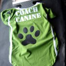 Coach Canine Green Dog Tee Shirt Pet Costume Medium Fits Up to 50 lbs 1 Piece