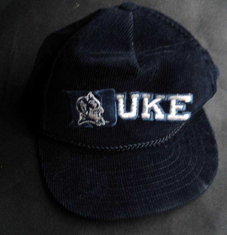 Duke University Blue Devils Dark Blue Corderoy Baseball Cap Hat  Adjustable