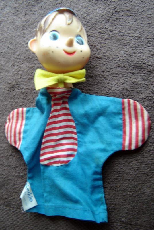 Vintage PINOCCHIO Hand Puppet 1962 Knickerbocker Toy Japan