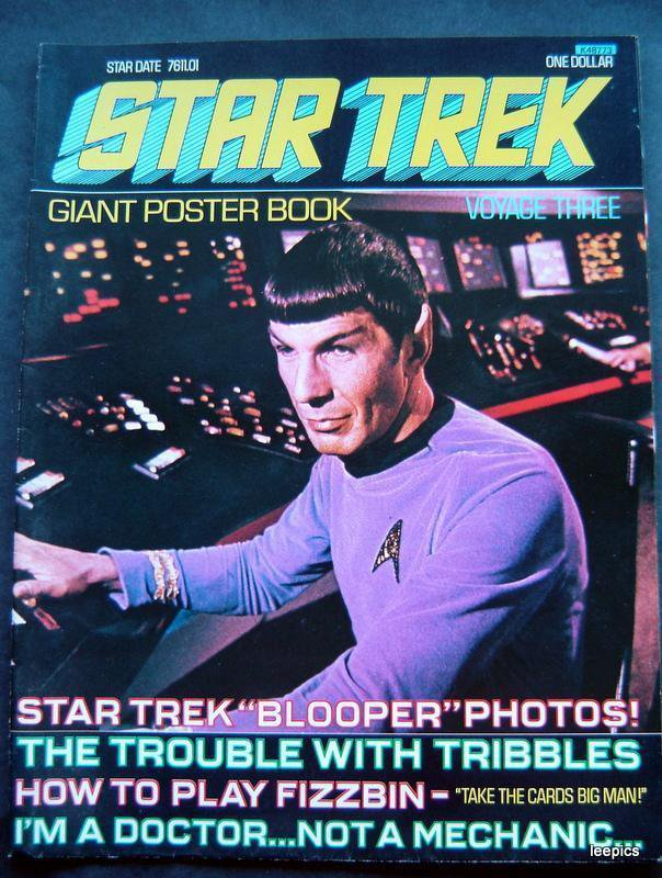 1976 Star Trek Giant Poster Book Voyage Three 3 Spock Cover