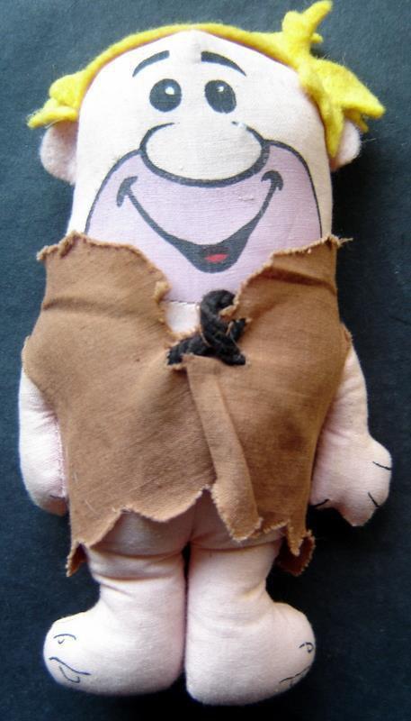 """Barney Rubble The Flintstones 6"""" Plush Stuffed Doll by Knickerbocker"""