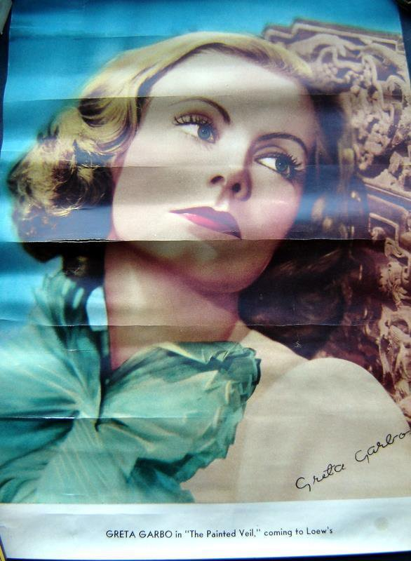 "1930s Actress Pin Up Poster Greta Garbo in ""The Painted Veil"" 9"" x 13"""