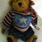 "Boyds Bear Eddie in Denim and Sweater with Tags Retired 10"" 1985-1995"