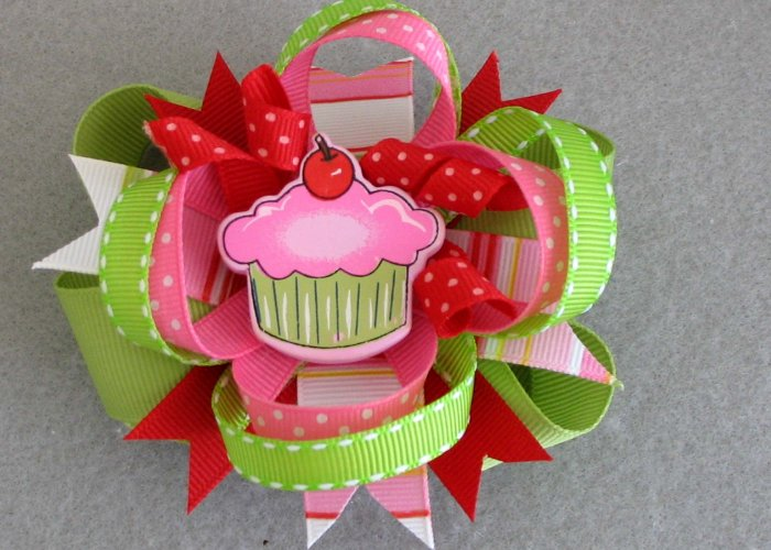 Cupcake Birthday Boutique Bow