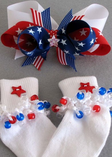 American Spirit Socks and Boutique Bow