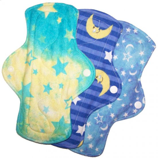 Regular Cloth Menstrual Pads Set of 3 Celestial