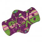 "Cloth Pantyliner 9"" Grape Skulls"