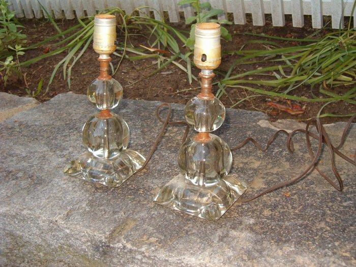 Vintage Pair of Budoir Lamps