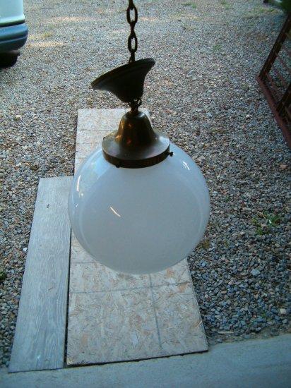 1930's Brass Cieling Lamp
