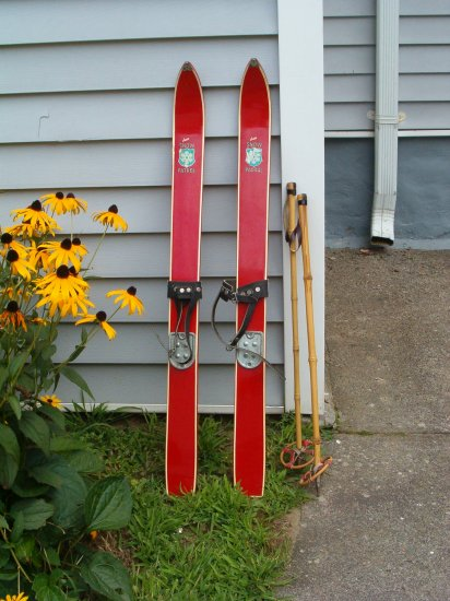 Childs Skis and Poles from the Sixties