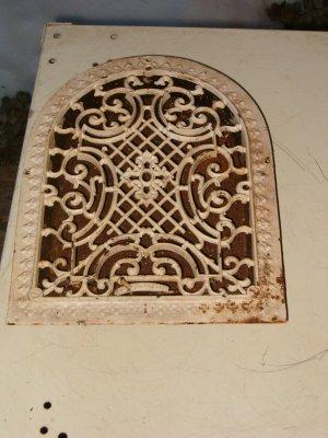Victorian Half Round Wall Grate