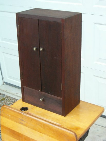 Mahogany Wood Wall Cabinet