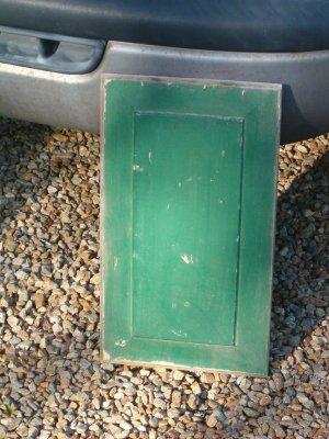 Antique Green Raised Door Panel