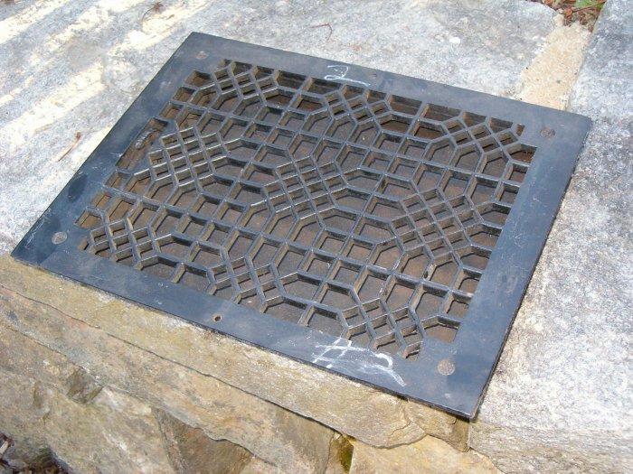 Cast iron floor grate no 2 for 10 x 12 floor grate