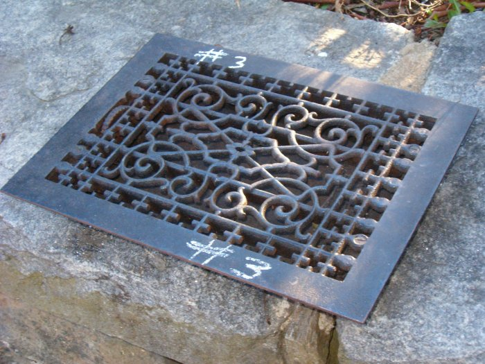 cast iron floor grate no 3 With wrought iron floor grates