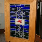 Stained glass Light Box Mobile Oil Co.