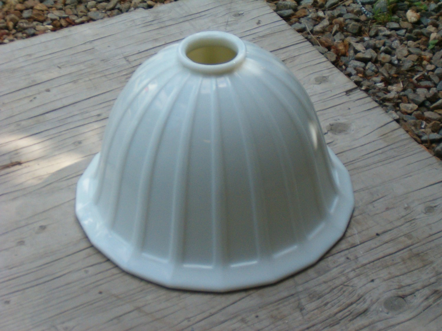 Antique Milk Glass Bell Shaped Shade