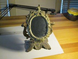 Antique Cast Iron Boudoir Mirror