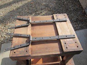 Vintage Wrought Iron Strap Hinges