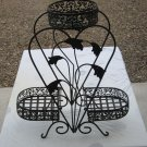 3 Tier Vintage Iron Plant Stand