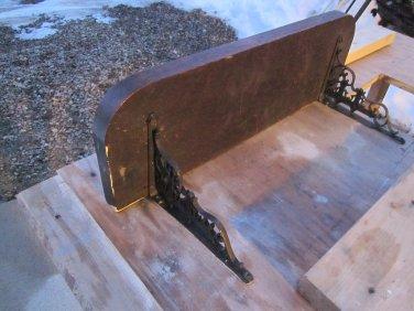 Victorian Oak Clock Shelf with Cast Iron brackets