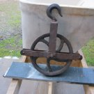 Antique Cast Iron & Steel Well Wheel