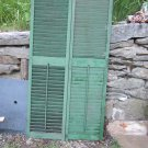 Vintage House Shutters in Green