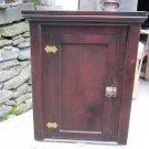 Vintage Pine Cottage Corner Cabinet