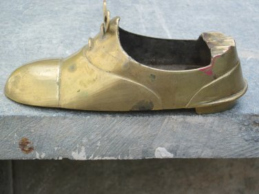 Decorative Brass Shoe Ashtray