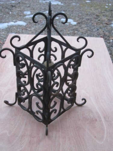 Vintage Hand Wrought Hanging Lamp