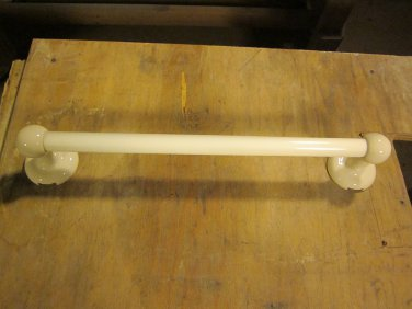 Vintage White Glass Towel Bar I-4