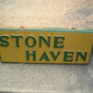 Vintage Wood Camp Sign ( Stone Haven )
