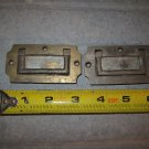 Two Vintage Brass Box Handles
