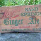 Leoyd's Sand Spring Ginger Ale Crate Williamstown Mass