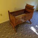 Antique Rocking Wood Cradle