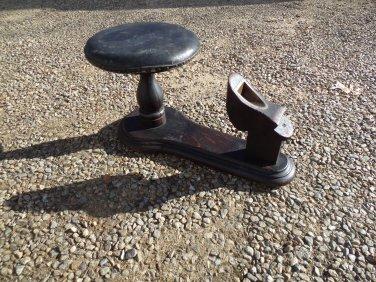 Antique Shoe Store Salesmans Shoe Fitting Stool