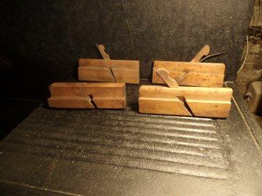 4 Antique Maple Wood Planes