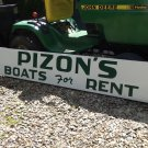 Pizon's Boats For Rent  metal sign