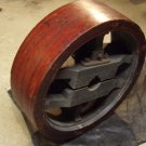 Antique Wood Pulley for Glass Top Table