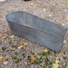 Antique Square Front Tin Coffin Tub