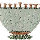 Morning Glory Menorah - by Quest Judaica Designs (Glass/Metal)