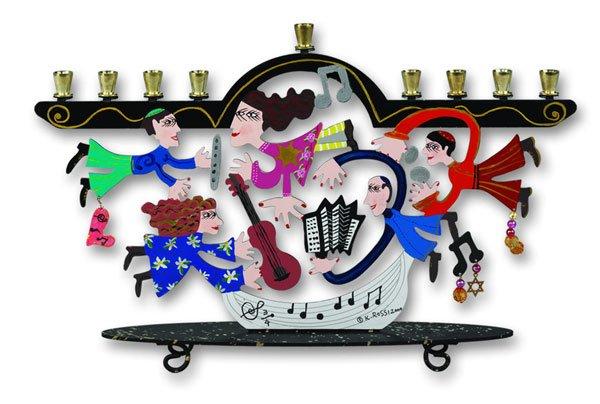 Designer Musicians Menorah by Karen Rossi
