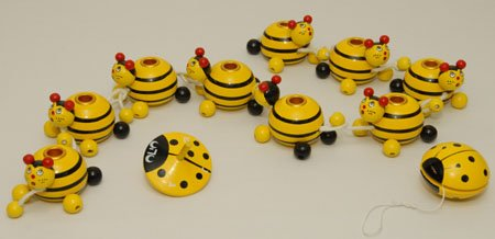 Adorable Bumble Bee Menorah, Dreidel and Yoyo