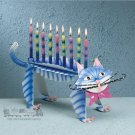 Ketzel The Cat Hanukah Menorah