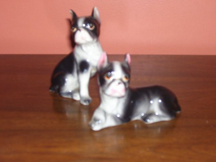 Vintage Relco Boston Terrier Dog Salt and Pepper Shakers