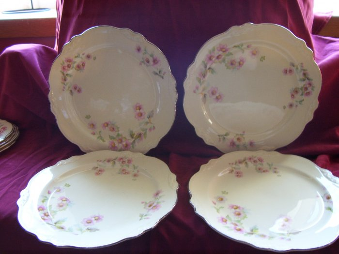 Homer Laughlin Virginia Rose Dinner Plates Moss Rose JJ59