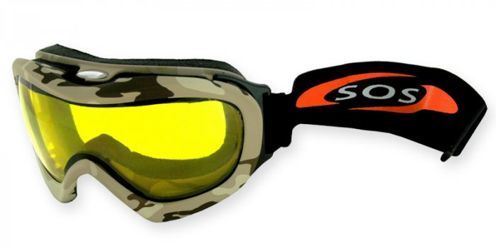 Desert Storm - Sand Camouflage/2.00MM Polycarbonate Yellow-Anti Fog Lenses