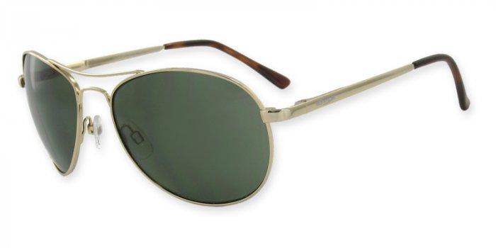 Independence-Ranger Monel Gold Frame, Optical Spring Hinges, PC Gray/Green Lenses