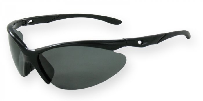 West Beach - Shiny Black w/Smoke TAC Polarized Lenses